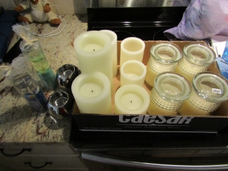 Box lot of battery operated candles 10 plus