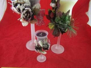 Trio of decorative candles