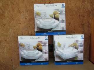 New Poduct - 3 sets clear glass dinnerware