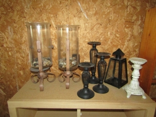 """Candle holders assortment  tallest 16"""""""