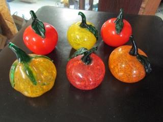 6- Art glass fruits