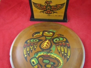 Indigenous West Coast Wooden covered box
