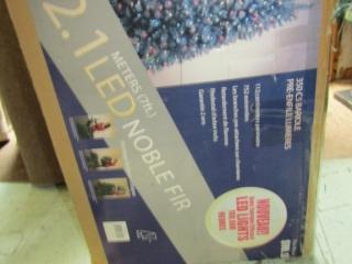 "Christmas decorations: 1-  tree 7 ft; 4 x 48"" tree"