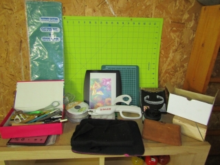 Craft items: Rotary cutting boards, punches,