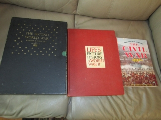 WW II books and one on the Civil War.