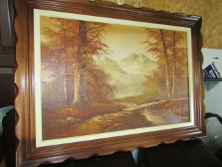 OIl on canvas framed, signed Lower right