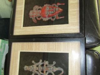 """Carribean Islands 2 framed artifacts 7.5"""" x 5"""""""
