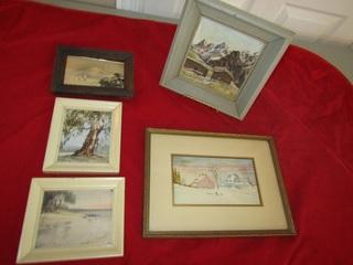 Group of artwork, some originals(5)