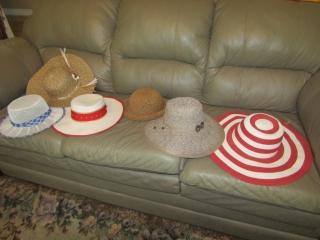 Assortment of sun hats