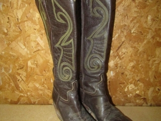 Leather  Cow boy boots