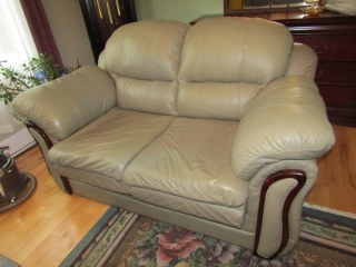 """SW Stone Leather love seat  64"""" L"""