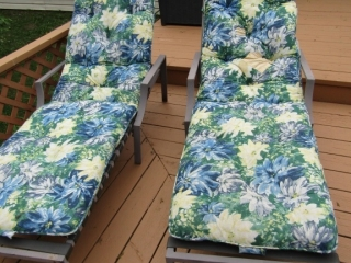 Pair Lounge chairs with cushions