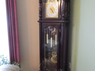 "Grandfather clock quartz 24"" x 12 x 87"" H"
