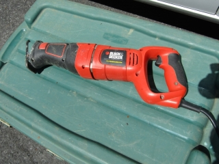 Black and Decker reciprocating  saw 7.5