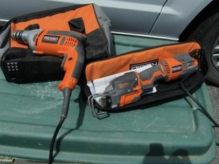 "Ridgid  1/2"" Drill and  Reciprocating saw"