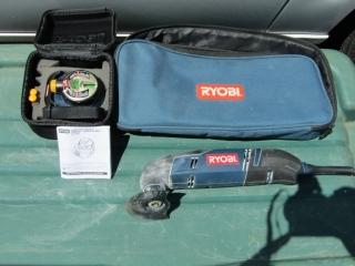 Ryobi Multi-tool and Ryobi laser level