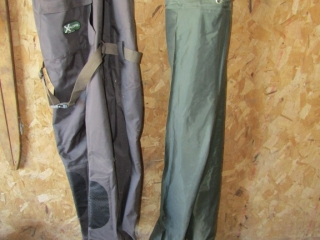 Waders size 9 boot steel shank and splash pants