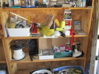 Lot: everything on shelving- electrical, plumbing,
