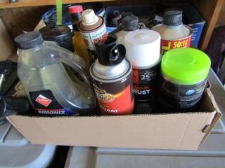 Lubricants, grease gun, oils, etc.