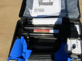 Mastercraft air powered 2 in one nailer
