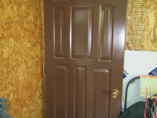 """Exteriot steel door - 32"""" x 79""""  with hardware"""