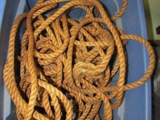 Rope in bin