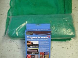 Pair of green protective  mesh plus Magna screen