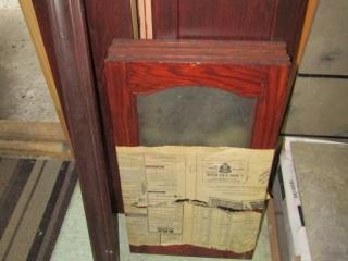 Cabinet doors , moulding, mahogany colour