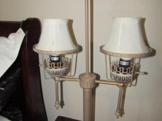 """Pair of metal lamps 25"""" H"""