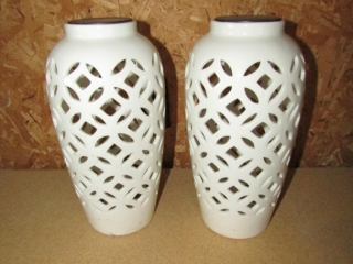 """pair of Solar candles 12"""" H"""