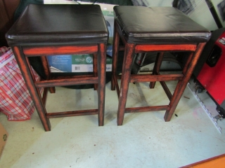 4 bars stools with 1 having some damage