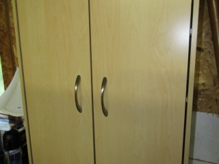 Cabinetry new top cupboard with 2 doors,