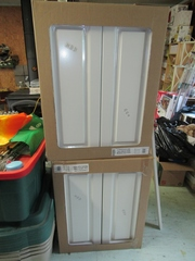 """White Cabinetry: Top  24"""" x 31"""" x 13"""" (2) plus"""
