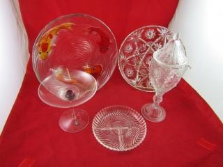 Glass Ware: American Prescut plate,