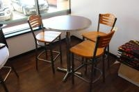 High Top Table w/ (3) Stools, Table Measures 30