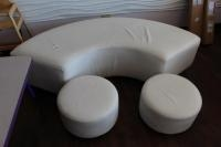 Funnky Sofa Curved Cushioned Seat w/ (2) Matching Child Seats