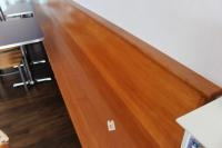 Wood Wall Mounted Bench, (2) 10ft. Sections