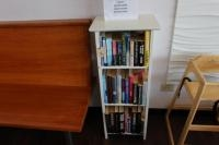Small Wood Bookcase w/ Misc. Books