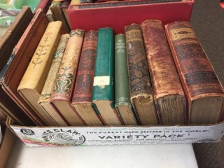 Assorted old books
