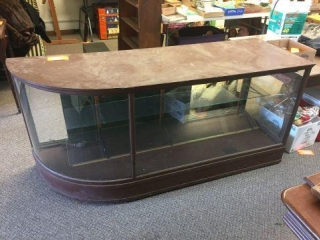 "Wood display cabinet. 72""x24""x33"""