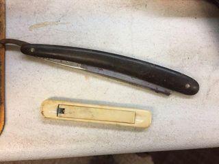 Straight razor & knife