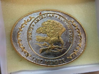 NAHC hunting club belt buckle