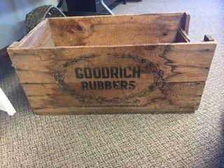 "Goodrich rubbers box. 27""x13""X12"""