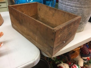 "Wood prune box. 15""x9""x6"""