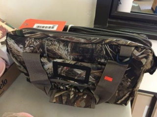 Camouflage soft sided cooler