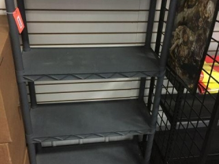 Plastic shelving unit