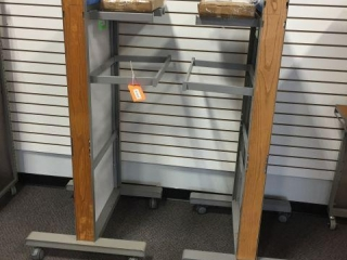 Two 2-sided display racks 28x28x90