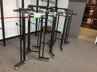3 Octagon racks w/wheels