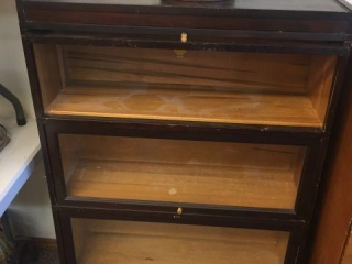 "3 piece stacking bookcase. 34""x12""x50"""