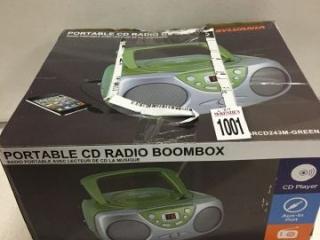 SYLVANIA PORTABLE CD RADIO BOOMBOX